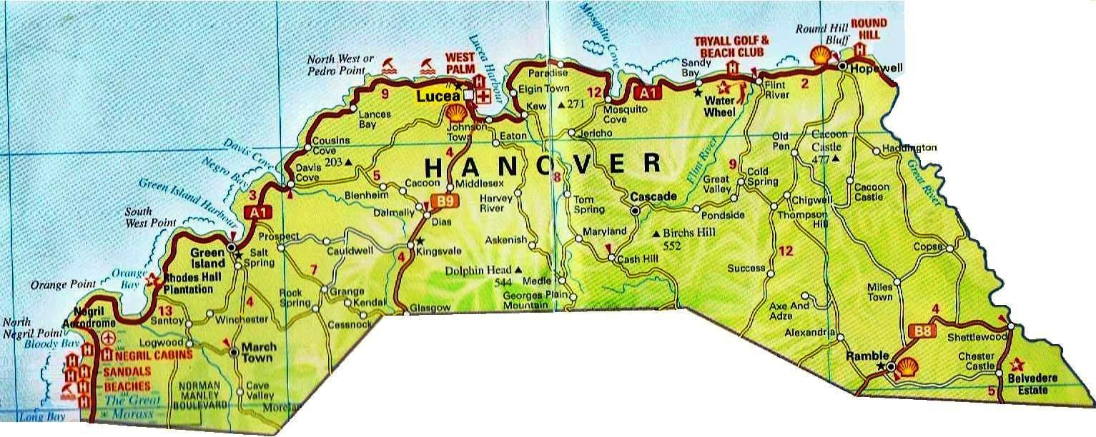 Road Maps For Jamaica And All 14 Parishes | JamaicaJamaica