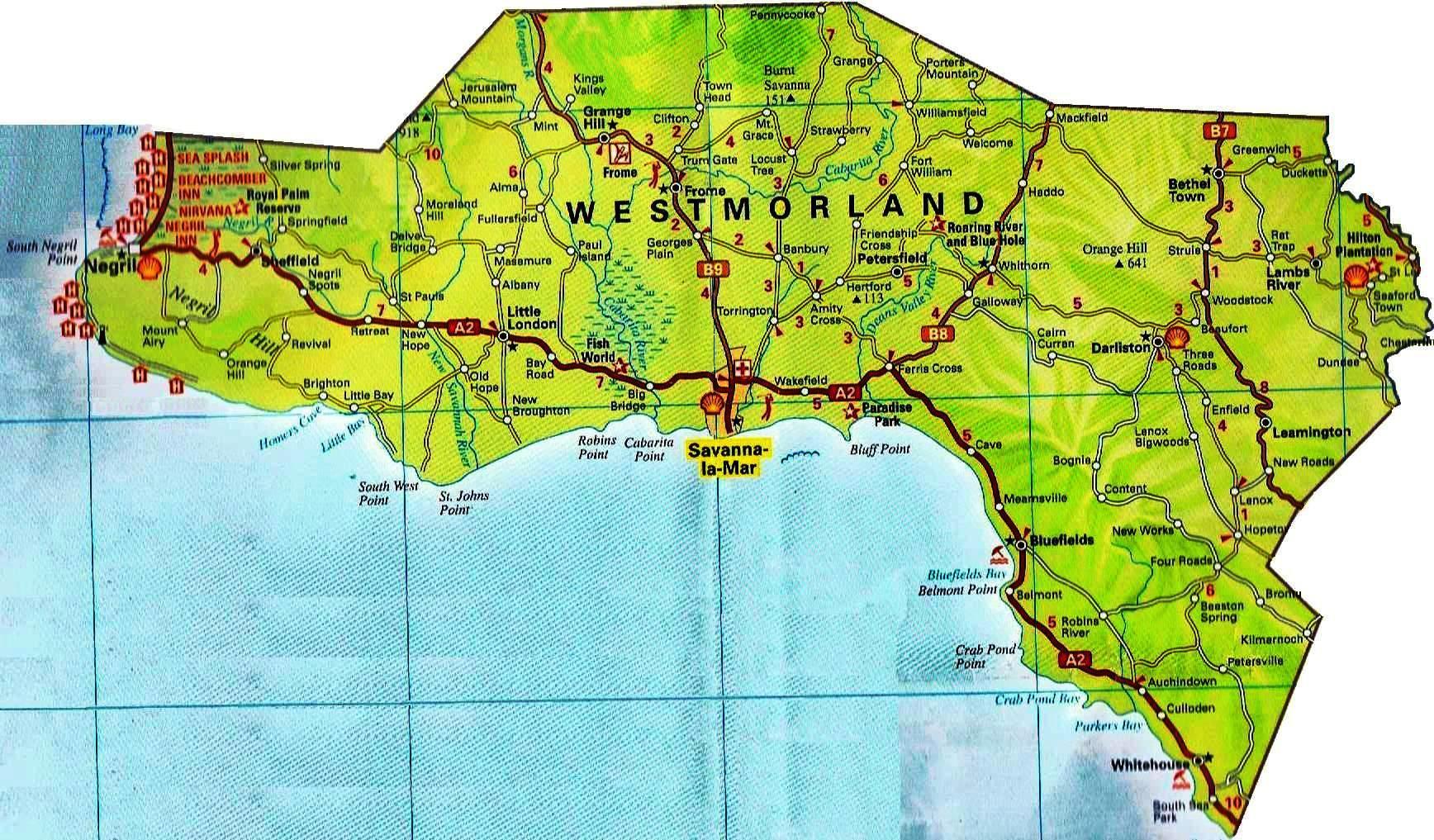 Westmoreland parish jamaica
