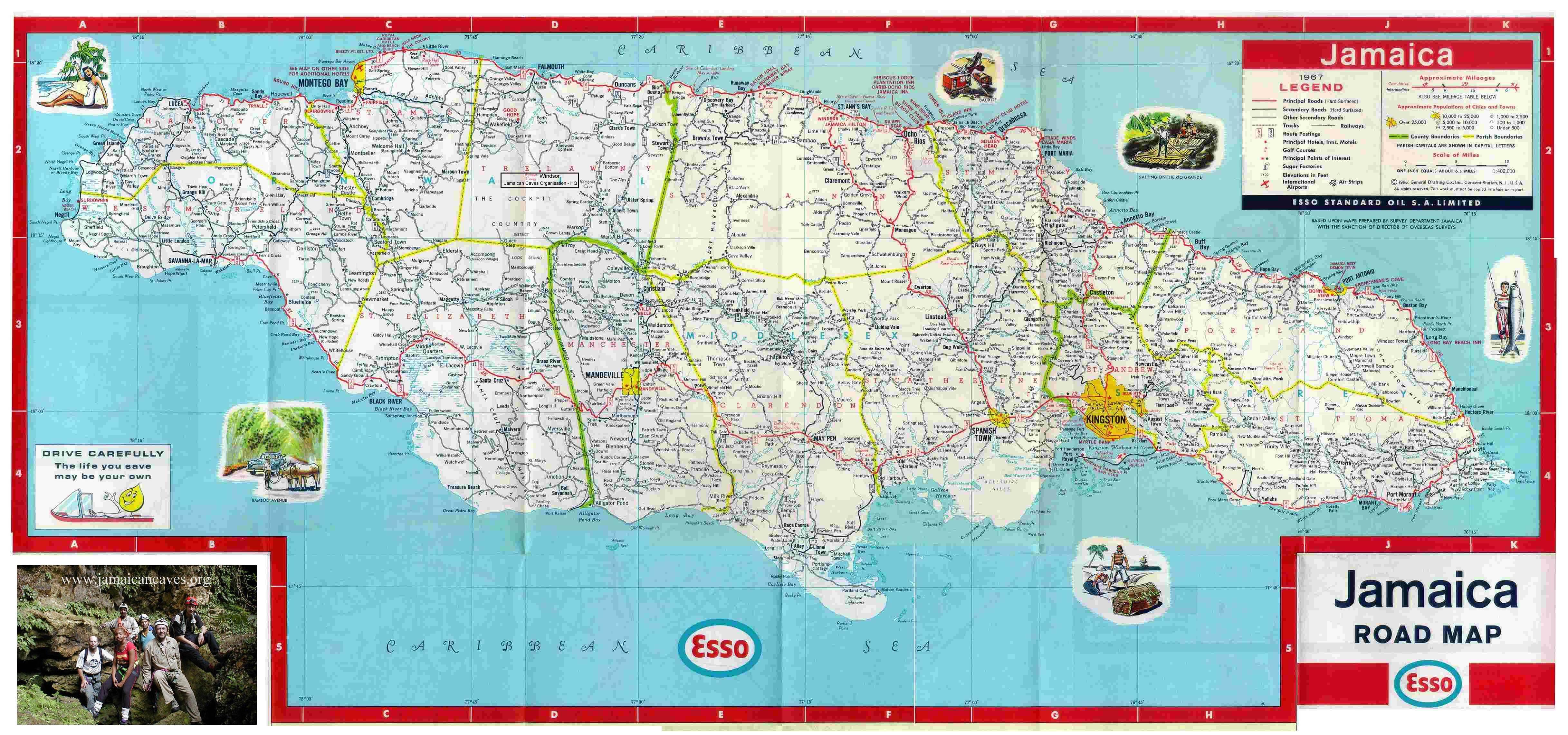 Road map for St Mary Jamaica JamaicaJamaica